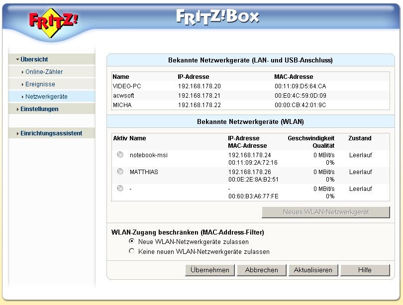 Fritzbox Konfiguration übertragen